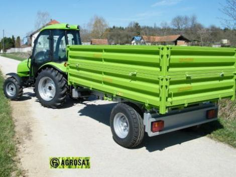 AGRO PV 2- 3-4t pótkocsi légfékkel ! MTZ traktor-ra ! TUBER traktorra hidr. ékkel . grosat fotó