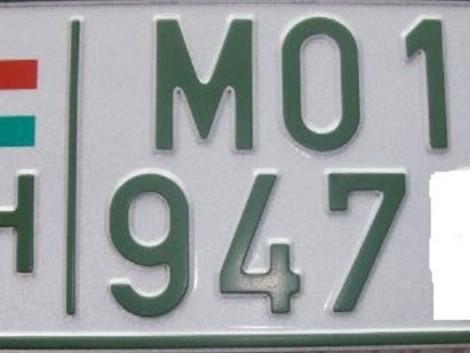 Zöld rendszám ügyintézés fotó