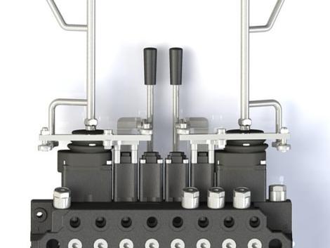 Daru-vezérlés / vezértömb / útváltó szelep -FINN-Rotor fotó