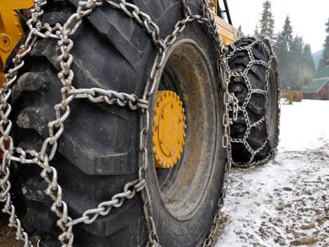 Svéd TEREPLÁNC / JÉGLÁNC / HÓLÁNC - LKT-ra / MTZ-re és egyéb traktorokra / vonszolókra fotó