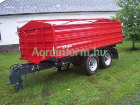 10 tonnás - új - PÓTKOCSI, hidraulikusan 3 oldalra billenthető, tandemtengelyes, AP-1000! fotó