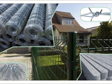 Betonoszlop Vadháló Drótfonat Drótkerítés Kerítés Építés Szögesdrót Kutya kennel Vezérdrót fotó