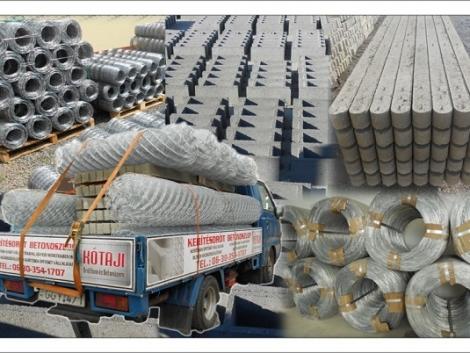 Betonoszlop Vadháló Drótháló Drótfonat Drótkerítés Kerítés Kerítésépítés fotó