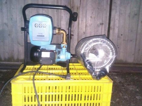 Üzemanyag szivattyú mérő órával eladó fotó