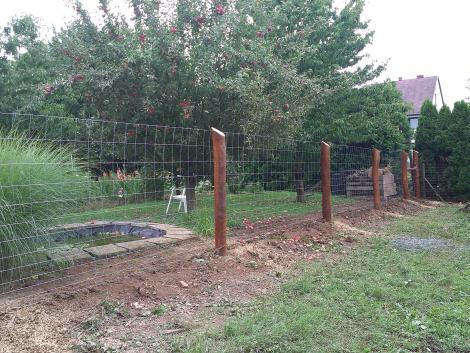 Kerítés Építés! vadháló drótfonat akácoszlop! fotó