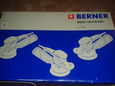 Berner BROS 125/150 AVE excenter csiszoló ÚJ! fotó