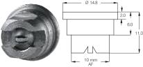 DF-120 S hagyományos dupla sugaras fúvóka