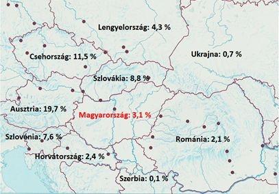 magyarország környező országok térkép Kutatások az ökológiai növénytermesztésben – első rész   Agroinform.hu magyarország környező országok térkép