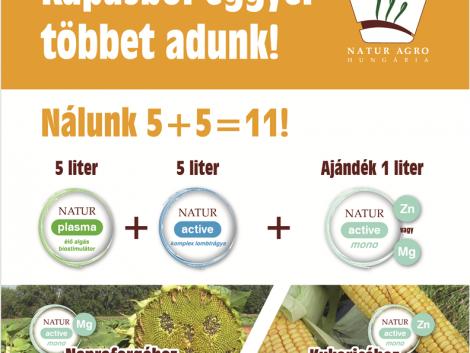 Natur Agro Hungária Kft.: Stimulálunk és tápanyagot pótlunk a kapás kultúrákban!
