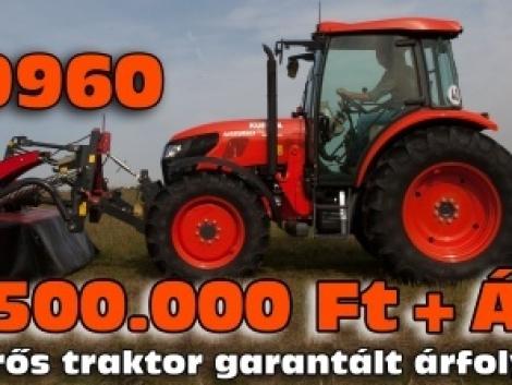 Vásároljon Kubota traktort garantált árfolyamon!