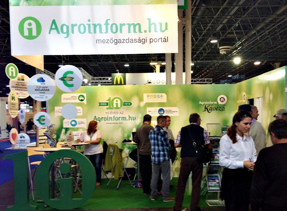 Az Agroinform.hu a G pavilon 404/A standján várja a látogatókat