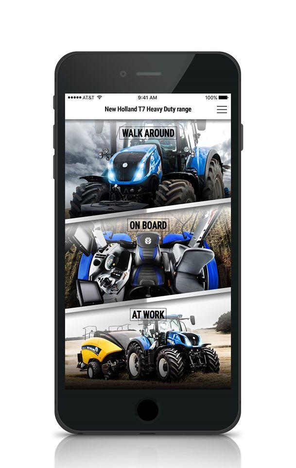 New Holland T7 applikáció - járd körbe