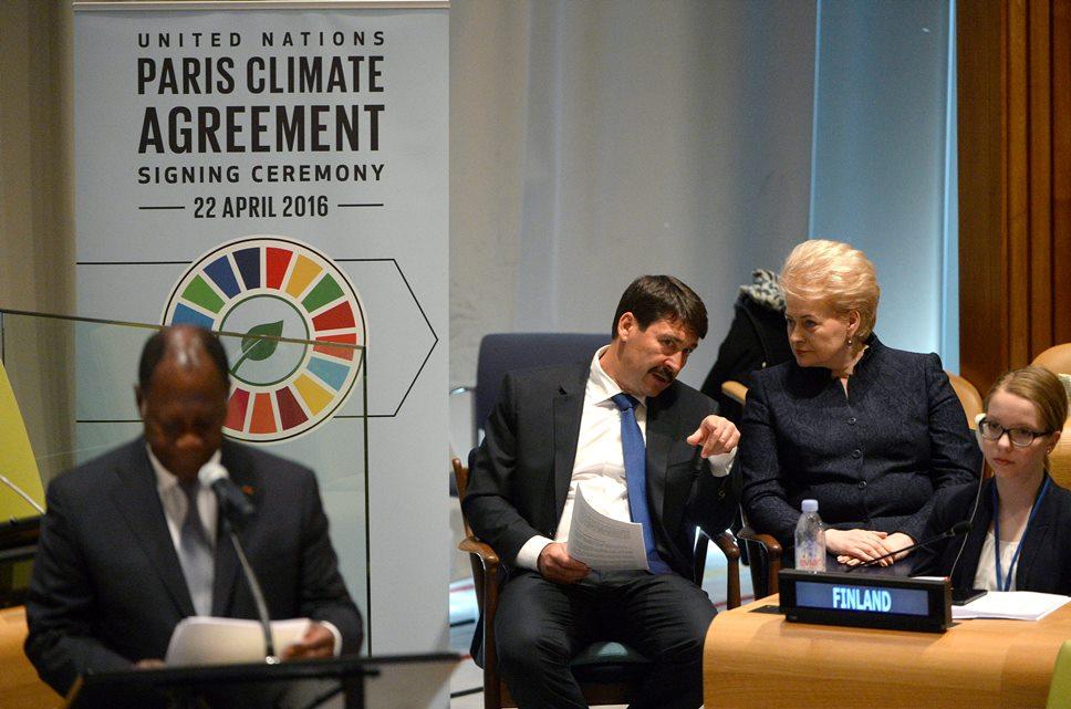 klímakonferencia - Áder János