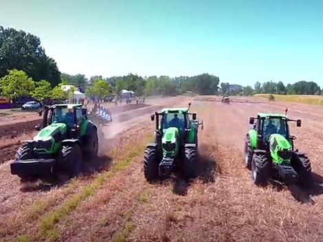 Sáros traktorverseny és szántóföldi bemutató Deutz-Fahr traktorokkal (+Videó!)