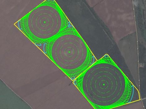 Piacvezető GPS Corner kar a szabálytalan alakú táblák hatékony öntözéséért