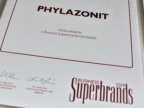 Superbrands védjegyet kapott a Phylazonit