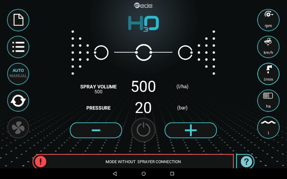 A Fede H3O vezérlőkonzol képe.