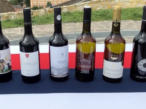 Bemutatták az Egri borvidék egyedi borospalackját