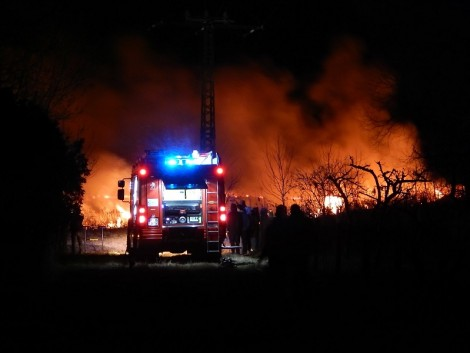 Tűzvész volt a balatonfenyvesi berekben! – KÉPEK!