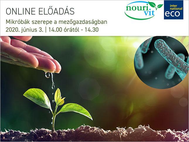 Online előadás a mikróbák szerepéről a mezőgazdaságban