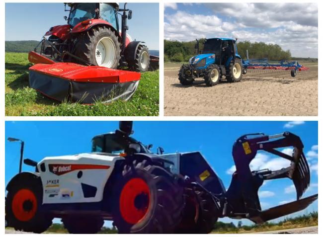 LS traktorok, JCB és Bobcat rakodógépek akcióban
