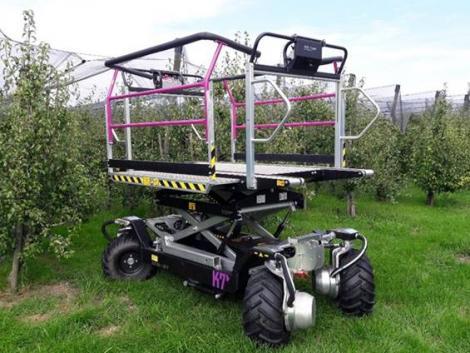 Környezetbarát betakarító gépek az almásban
