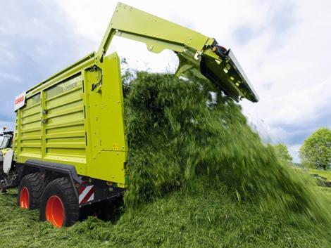 Új megoldások a Claas Cargos kettős célú gyűjtő- és szállítókocsikhoz