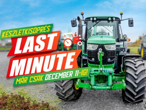 Már csak december 11-ig! – Akciós John Deere traktorok
