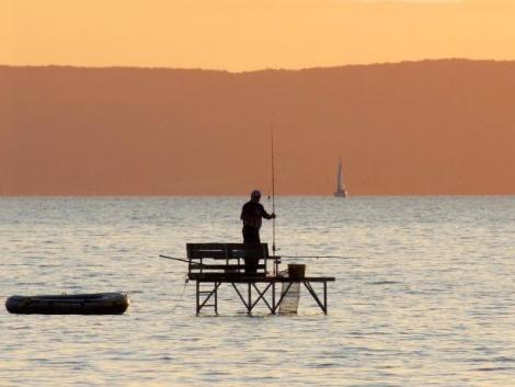 Gereblyéző orvhalászt fogtak a halőrök Balatonföldváron