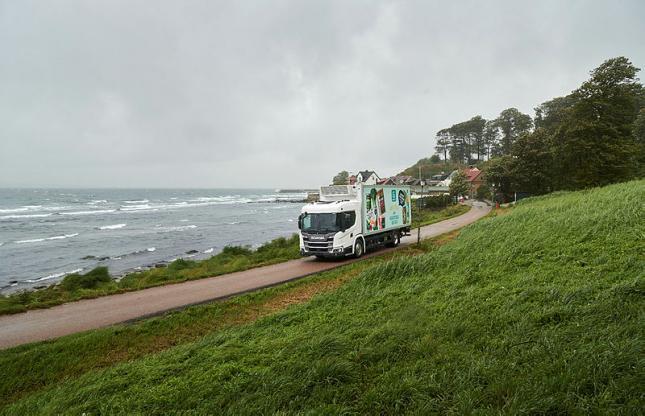Scania biogázüzemű hűtőkocsi