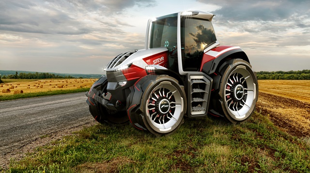 Steyr díjnyertes traktora