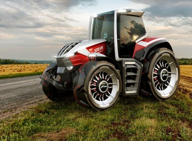 Futurisztikus traktorával zsebelte be a Steyr a neves formatervezési díjat