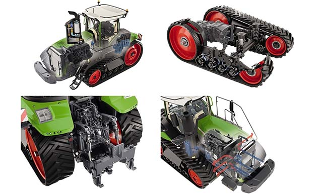 rugózott járószerkezet a Fendt traktorokban