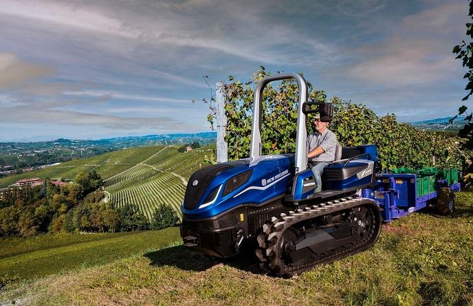 New Holland szőlészeti metán traktor