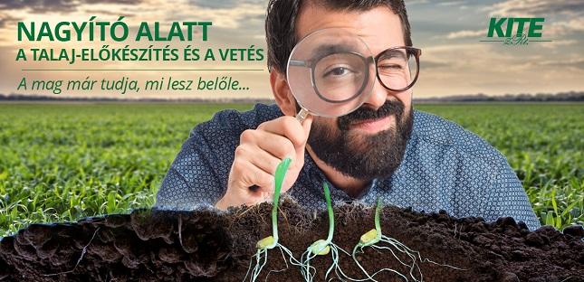 talajelőkészítés és vetés KITE