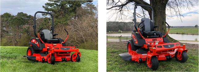 Fűnyíró traktor a kertben