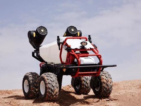 Növényvédő sárkány – önjáró permetező robot Kínából