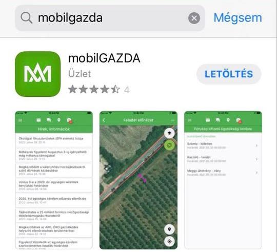 mobil gazda applikáció