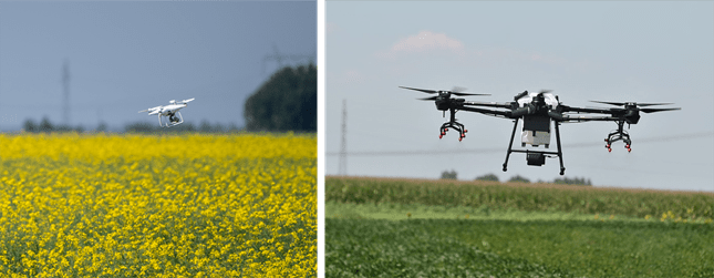 felmérő és bevatkozó drón