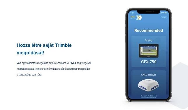 mobiltelefon Trimble megoldással