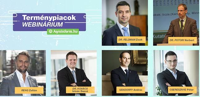 Terménypiacok Webinárium előadói