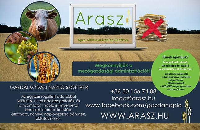 Arasz gazdálkodási napló szoftver