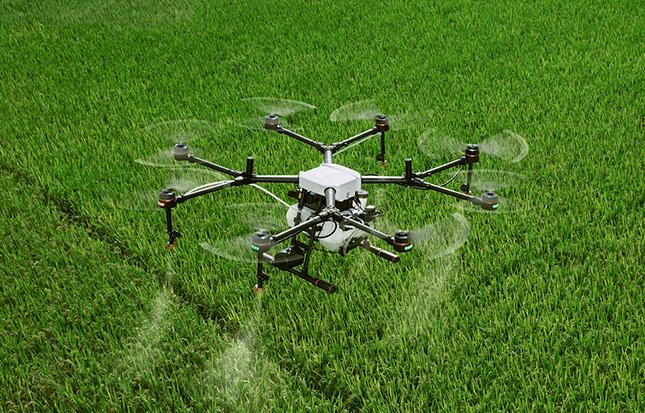 Drón munka közben