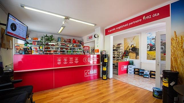 A megújult székesfehérvári HABI üzlet vevőtere