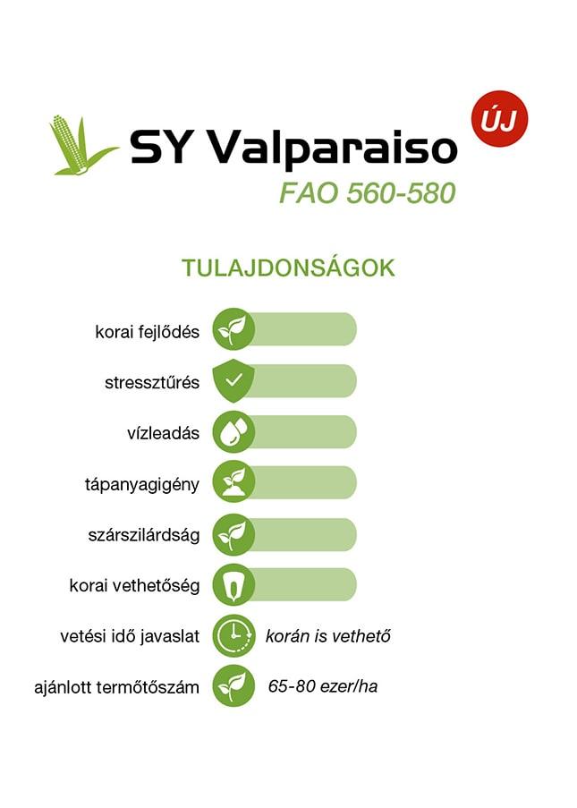 SY Valparaiso tulajdonságai