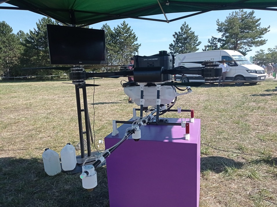 Gyakorlati drónos bemutató